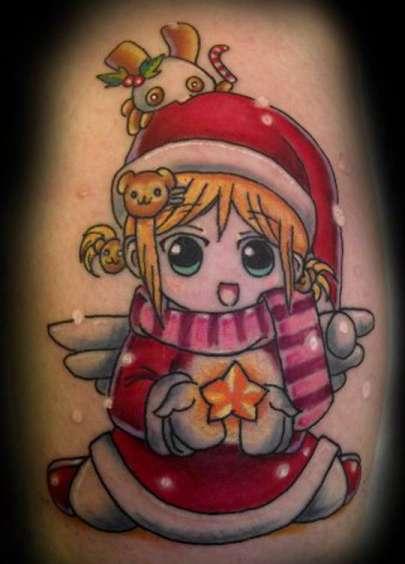 santa gifts tattoo