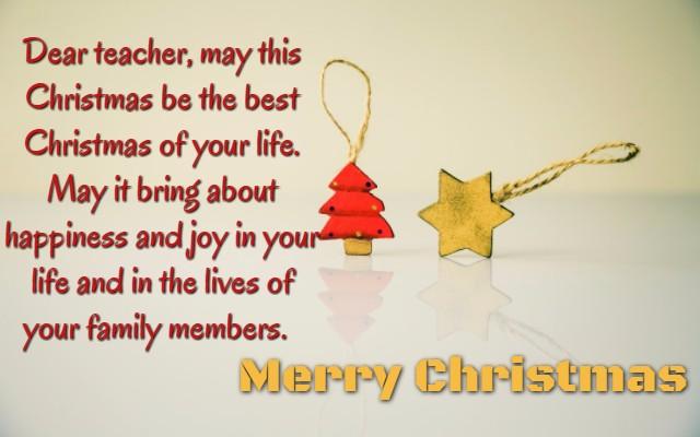 Best Christmas Wishes for teacher