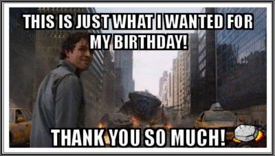 Funny Birthday Thank You Meme caption image