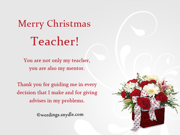 Merry Christmas Wishes For Teachers