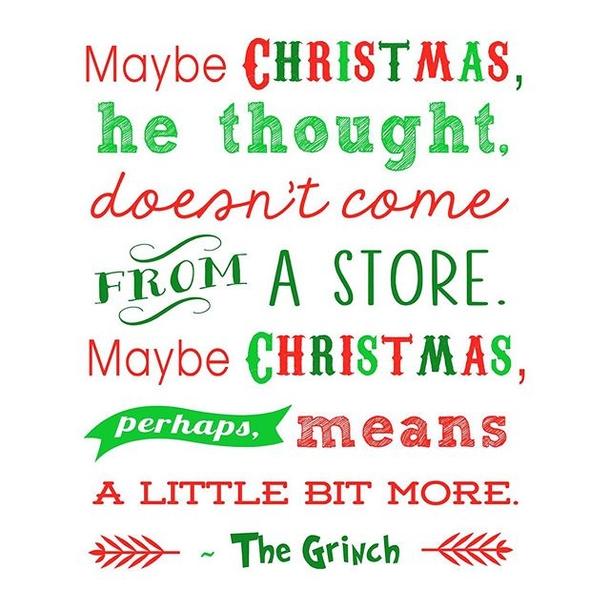 The Grinch Christmas sayings