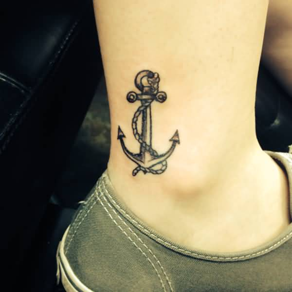anchor tattoo on ankle
