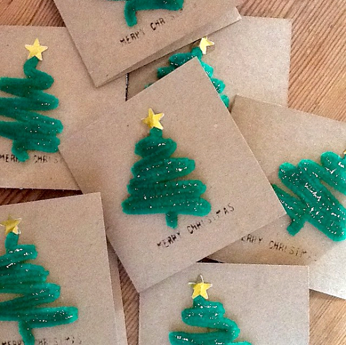 diy Christmas cards for kids
