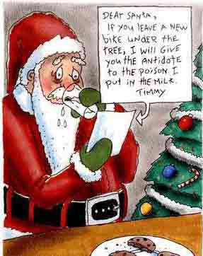 funny Christmas ecard for Santa Claus