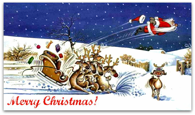 funny Christmas wishes card