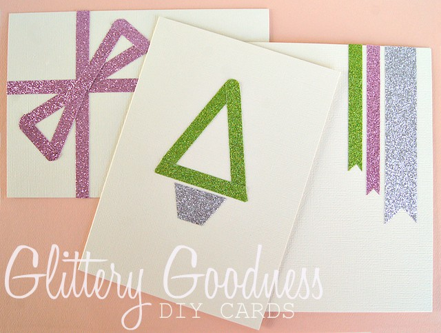 glitter tape diy Christmas cards