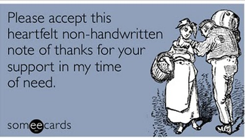 sarcastic hilarious thanks ecard