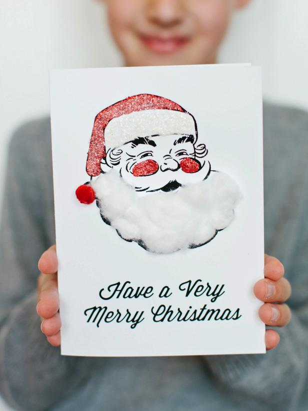 make a Santa Christmas card