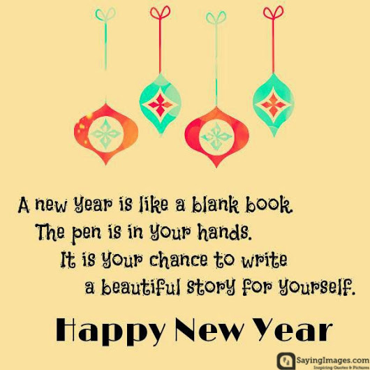 new year is like a blank book
