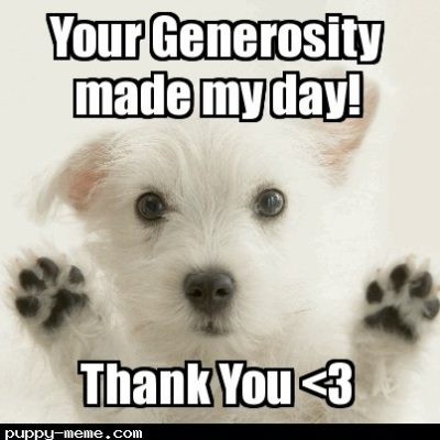 west highland white terrier thank you meme