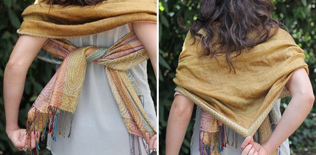 Knotted Shawl Scarf for women