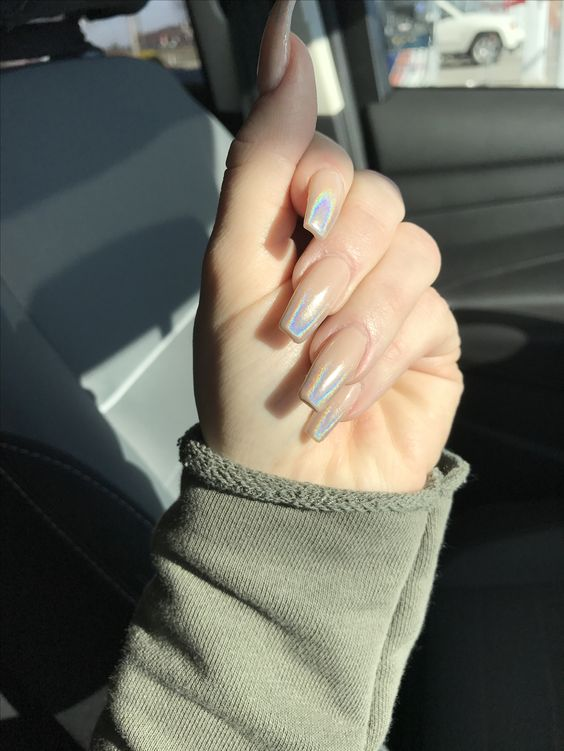 Ombré Nude nails