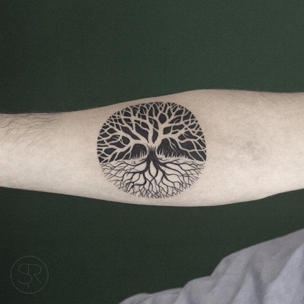 Roots and tree of life tattoos