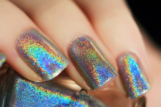 Scattered nail art