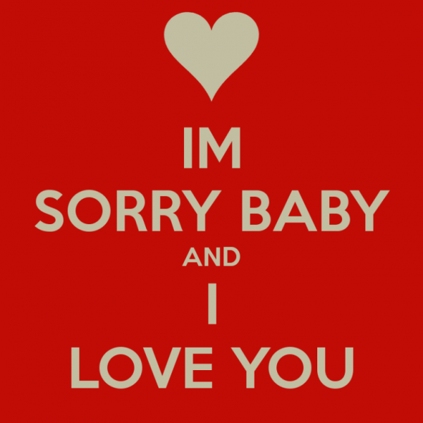 im sorry baby and i live you