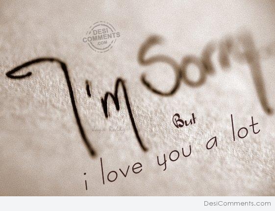 im sorry but i love you alot