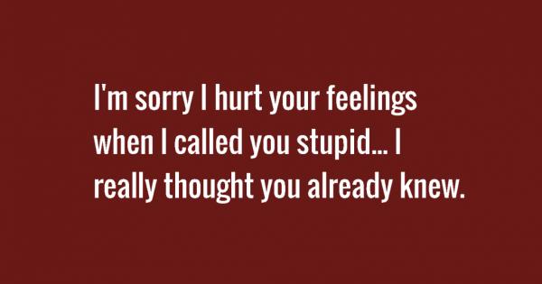 i'm sorry i hurt your feelings
