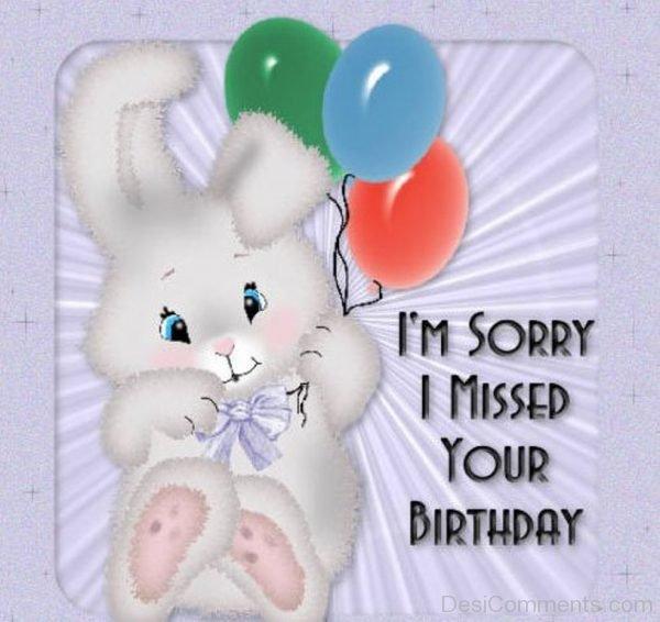 i'm sorry i missed your birthday