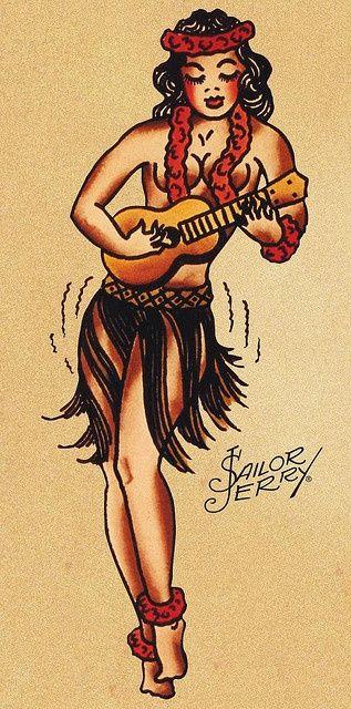 sailor jerry pin up girl tattoos