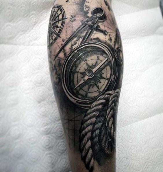 traditional nautical tattoo sleeve