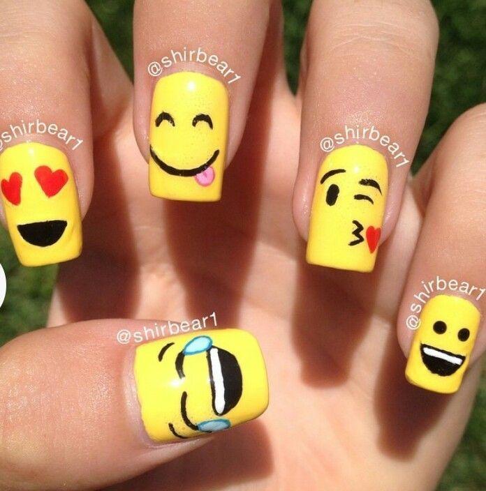 Cute Emoji Nails