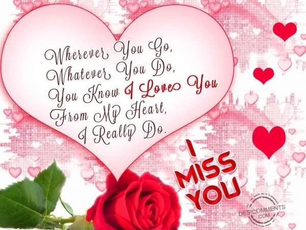 i love you i miss you