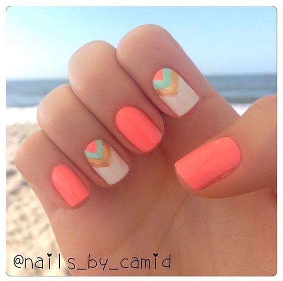 2 neon tribal nails