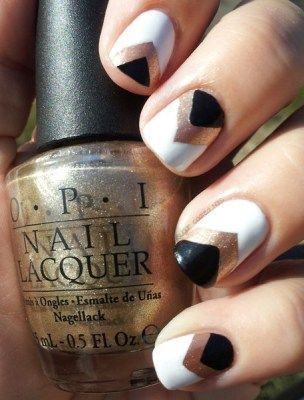 2 triangular nail design