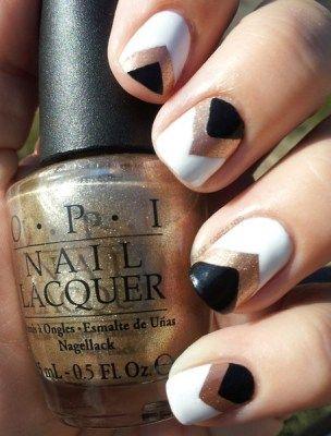 2 triangular nail design