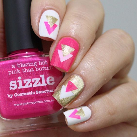 4 triangular nail design