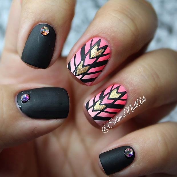 7 stud nail art design