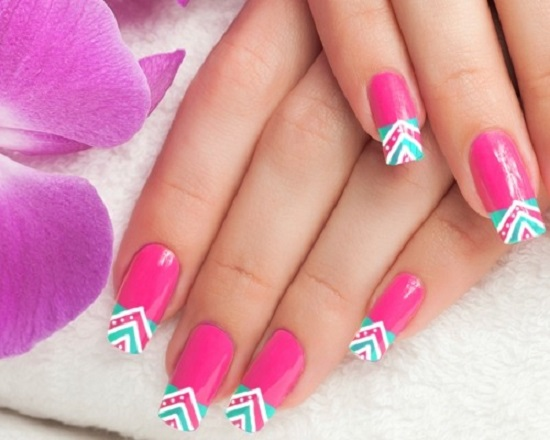 7 triangular nail design
