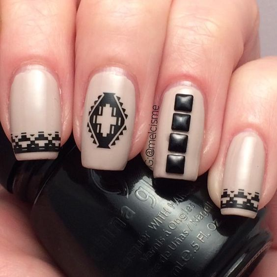 9 stud nail art design