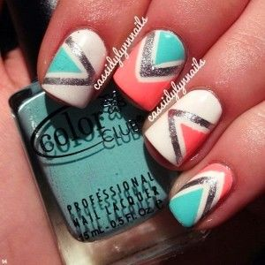 9 triangular nail design