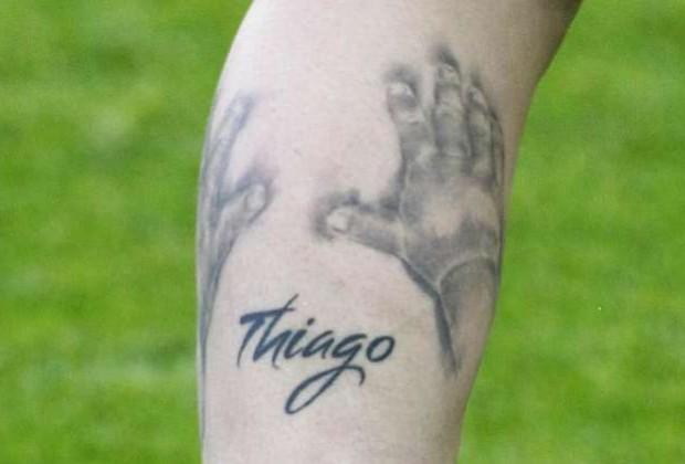 Messi son name thiago tattoo