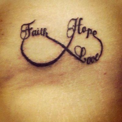 faith hope love infinity tattoo
