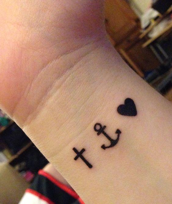 faith hope love symbol tattoo