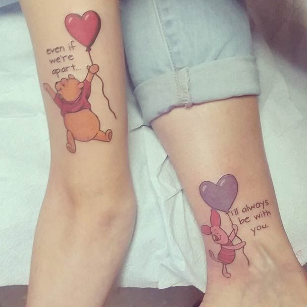 winnie the pooh and piglet tattoos