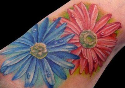 September birth flowers Aster Tattoos