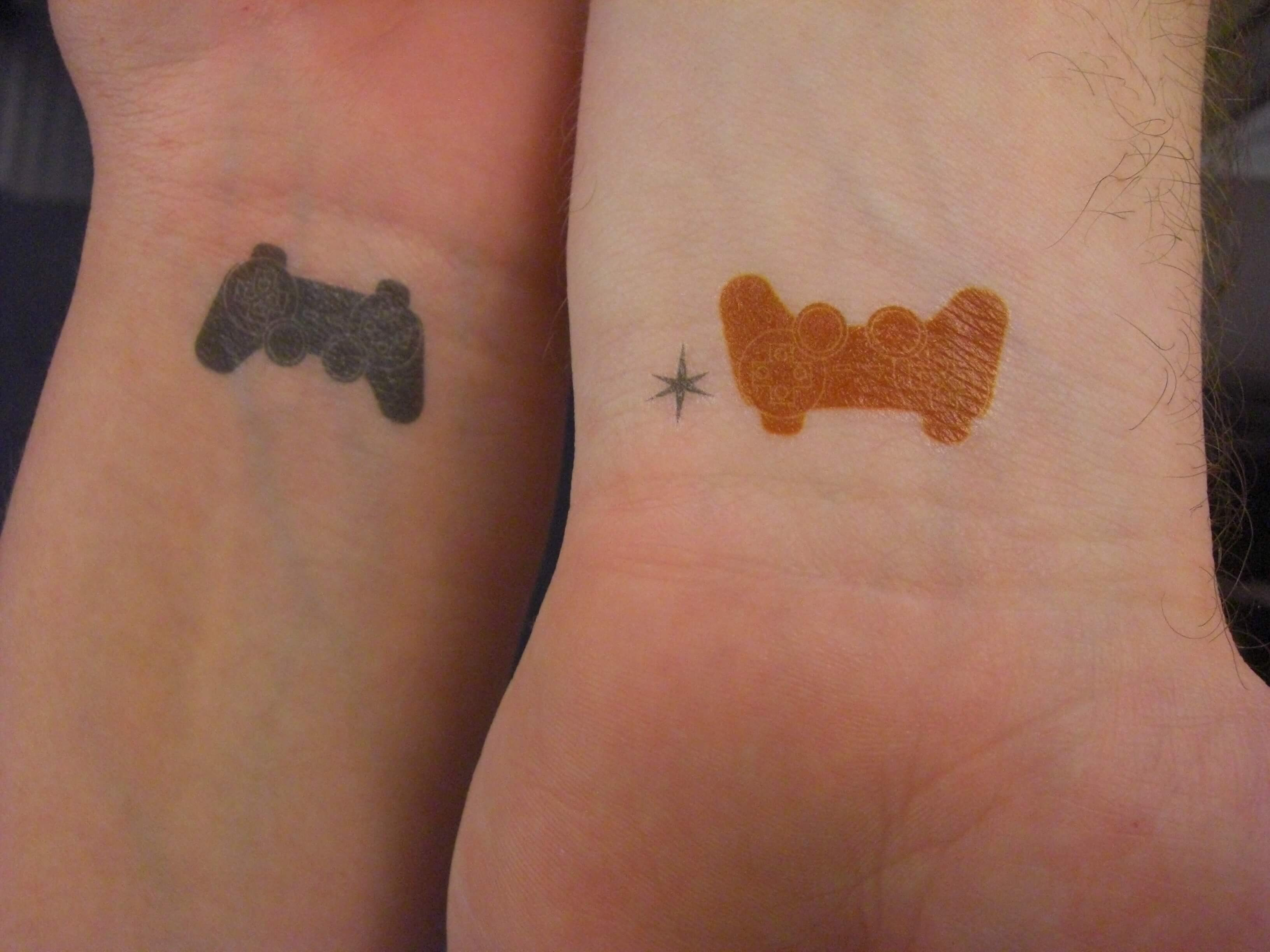 geeky couple tattoos