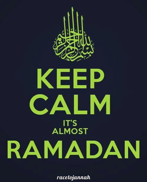 keep calm it's almost ramadan