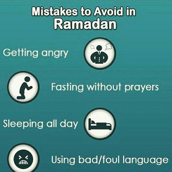 mistakes to avoid in ramadan