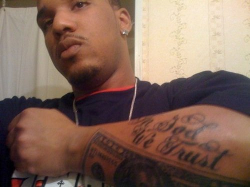 in god we trust tattoo for black men