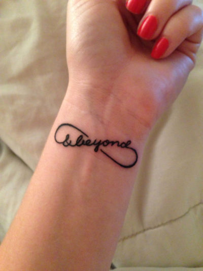 to infinity and beyond wrist tattoo ideas