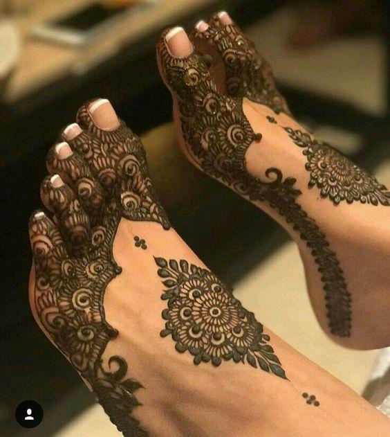 feet mehndi designs for eid 2018