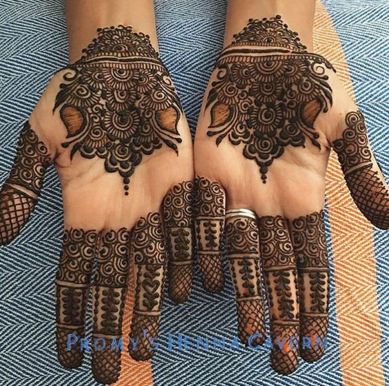 floral motif designs on front hand for eid