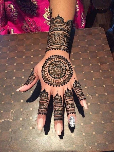 tikka mehndi design pattern for eid on full hand