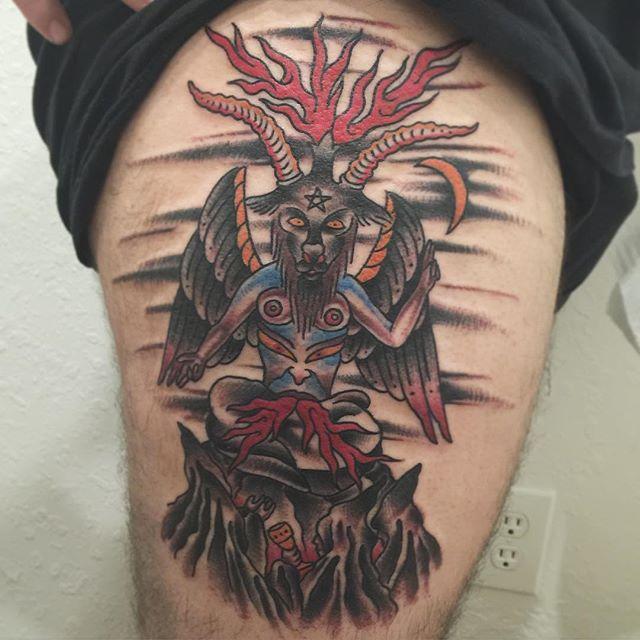 baphomet traditional tattoo designs