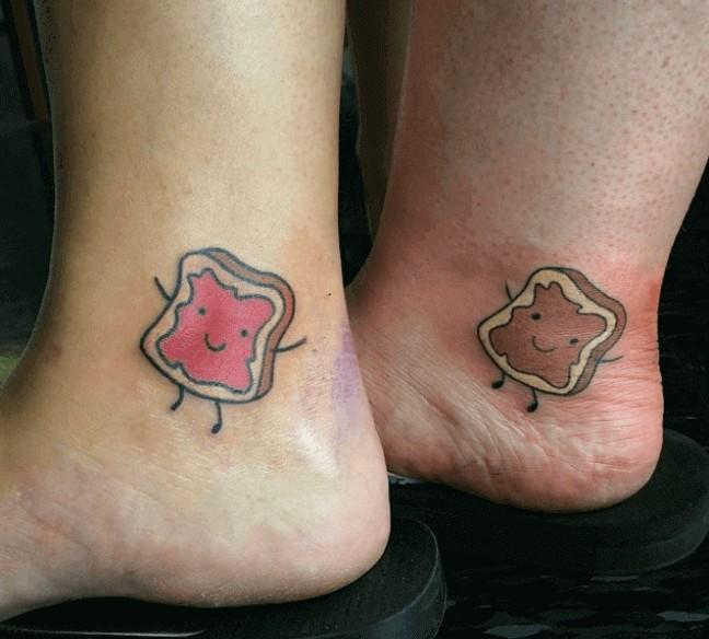 best friendship tattoo peanut butter jam slice bread