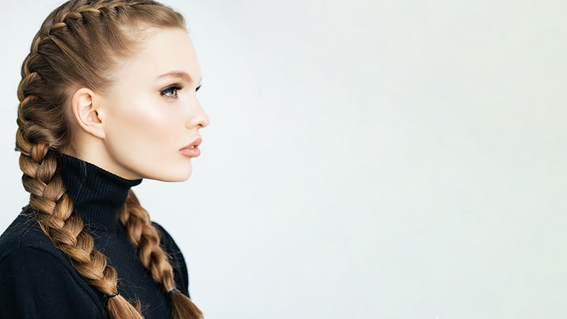 double french braided hairstyle